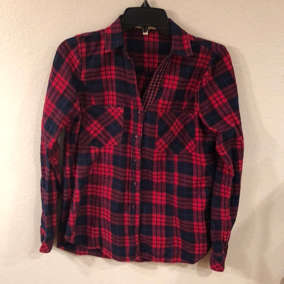 7b30f8aa375c5 Dark blue and Red flannel